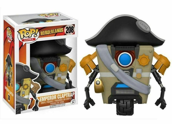 Funko Pop! Borderlands Claptrap Emperor No 208