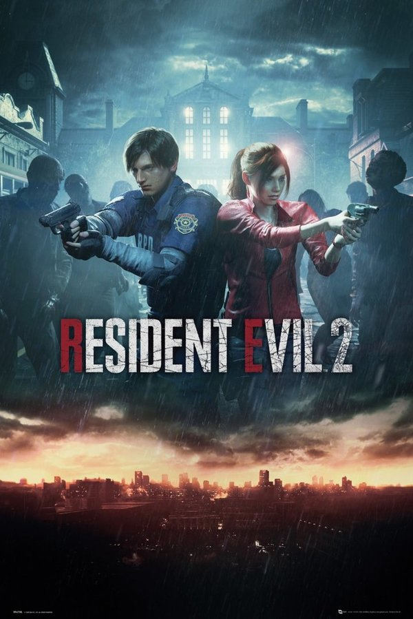 Poster Maxi Resident Evil 2 City Key Art