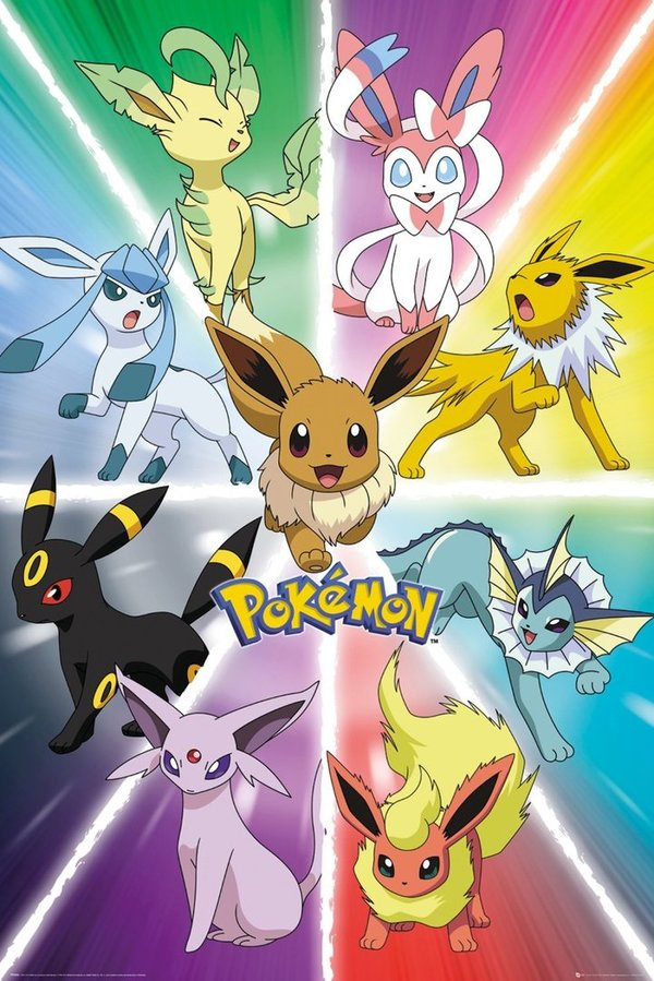 Poster Maxi POKEMON Eevee Evolution