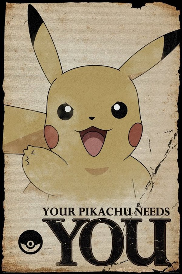 Poster Maxi Pikachu Needs You