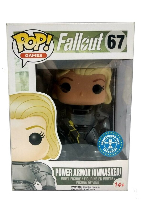 Funko Pop! Fallout Power Armor (Unmasked)  No. 67 Underground Toys Exclusive